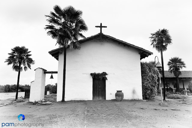 The front of a simple country church