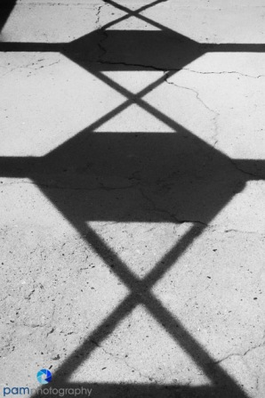 Designed shadows from a covered walkway