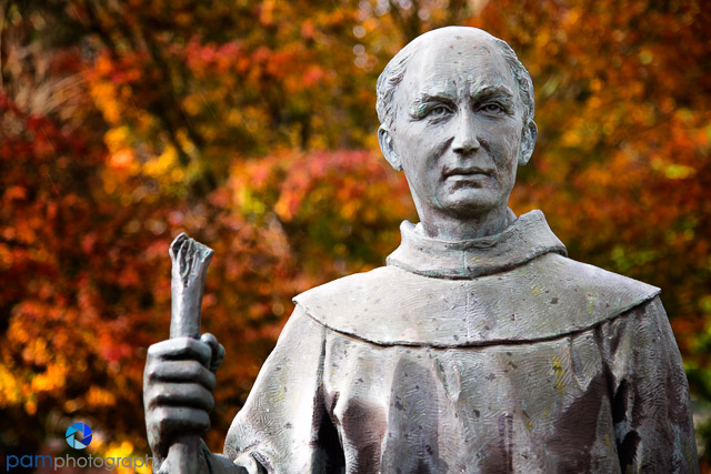 Portrait of Father Serra with Fall color