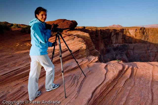 Mary at Horseshoe Bend, Page, CO