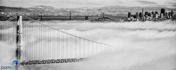 The Golden Gate from the Marin Headlands processed in Nik's SilverEffects Pro