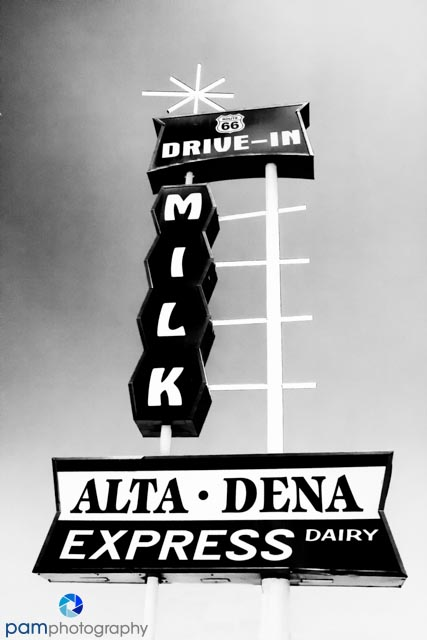 Old drive-thru dairy in Glendora, CA