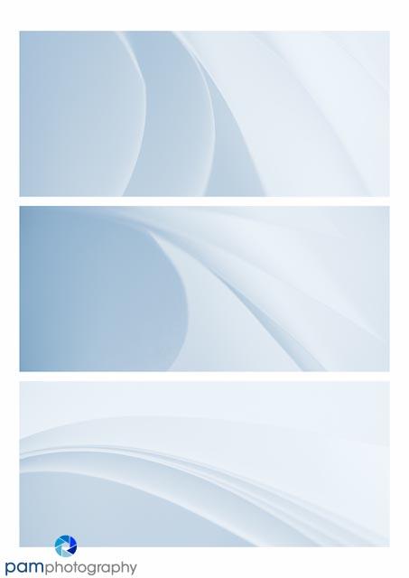 Blue Paper Triptich long