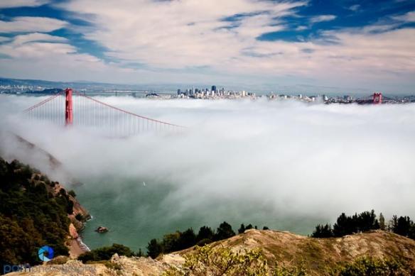 The San Francisco bay from the Marin headlands