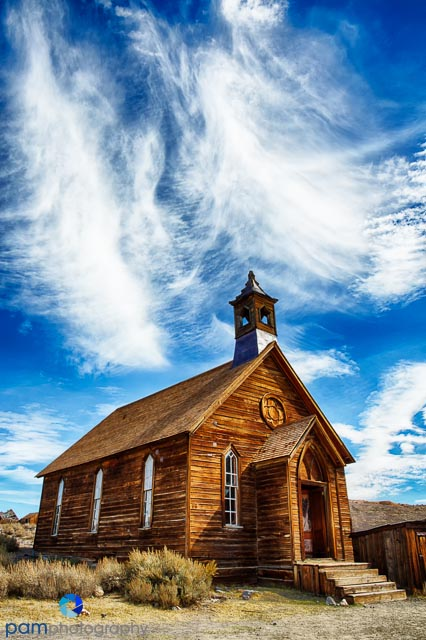 The Bodie ghost town church
