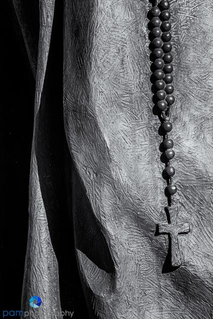 Detail of Father Serra's robe