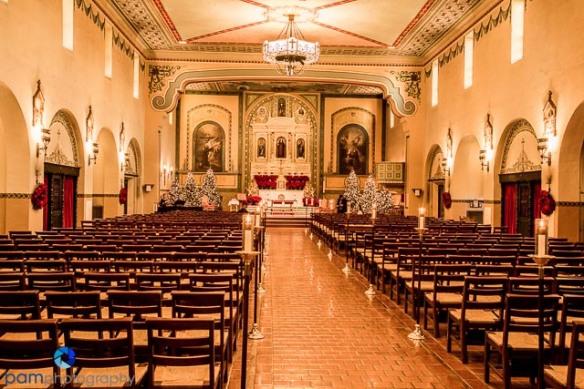 The church ready for a wedding