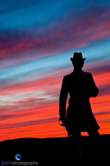 Sunset on Little Round Top