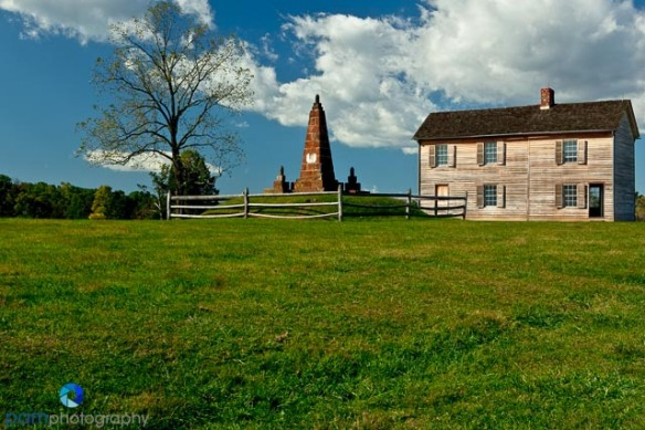 Henry House and Deep Cut Monument at Manassas, VT