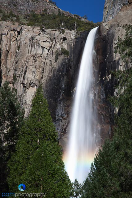 1.3 seconds at f/22 of Upper Yosemite Falls made in the middle of the day using the 5-stop Slo Mo filter