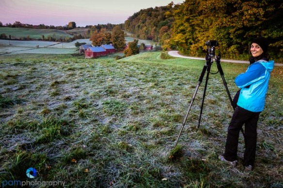 A cold morning at the Jenne Farm