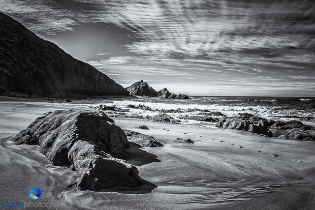 Infrared image at McClure's Beach