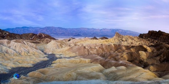 Zabriskie Point, Death Valley  5 shoot Pano