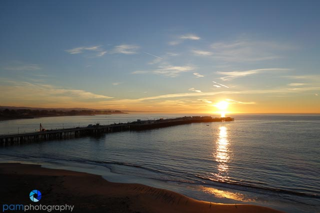 Santa Cruz Pier sunrise