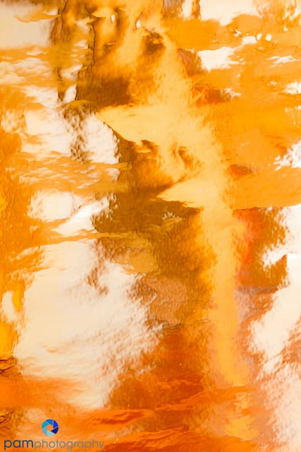 Abstract reflection in Mylar