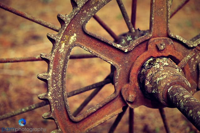 Abstract with axle and wheel