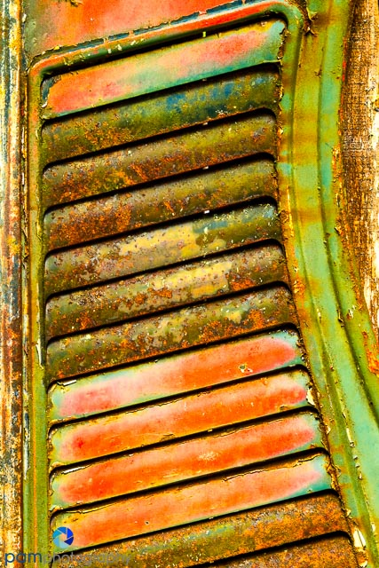 Abstract of radiator grill