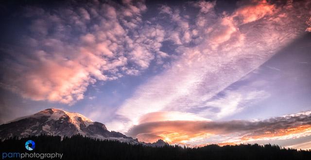 No reflection, but a wonderful sky