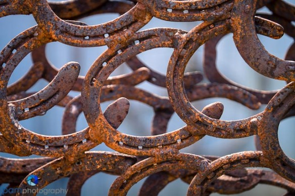 Abstract with horseshoes