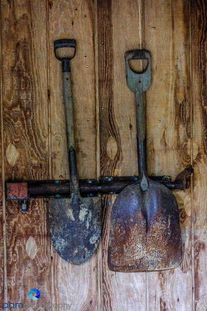 Old tools and shovels