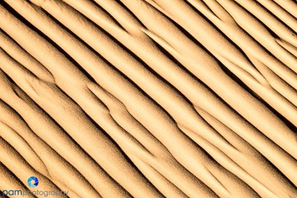 Repeating lines in sand dunes