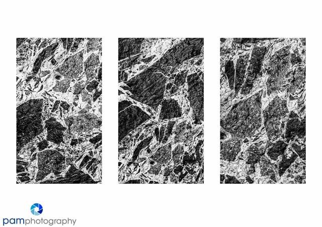 Rock Mosaic Triptych