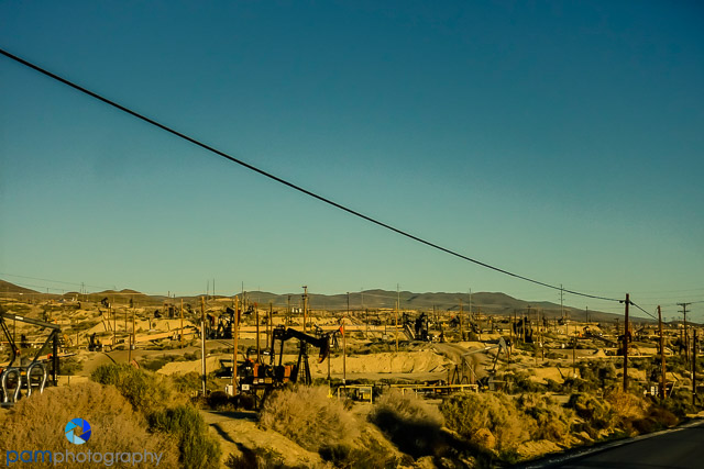Oil Field near Taft. The Carrizo Plain is just over those hills.