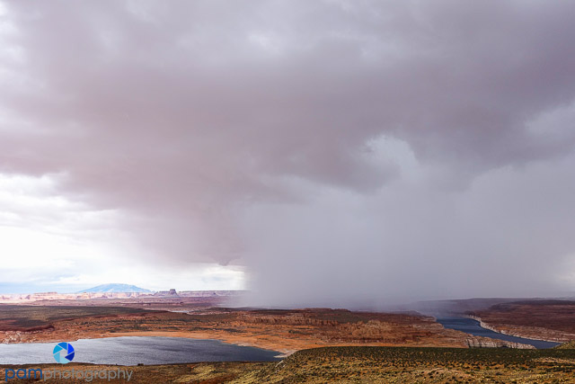 A rainstorm rolled in right on us while we were at the lookout.