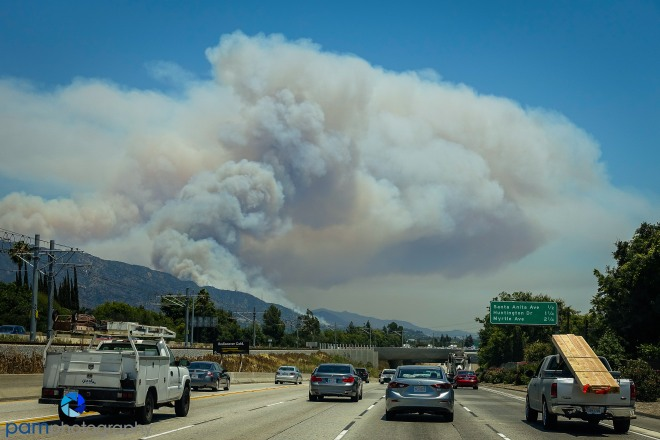 The view from Interstate 210 East