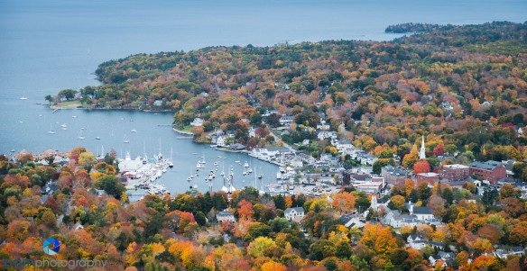 Camden from the top of Mount Battie
